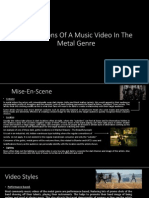 Codes and Conventions of a Music Video.
