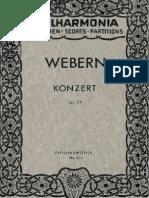 Anton Webern Concerto Op. 24 (1934)
