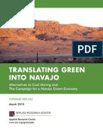 Translating Green into Navajo