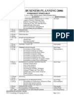 BUSINESS PLANNING Workshop Timetable-dummy Kapco