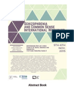 schizophrenia and common sense abstract book