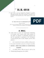 Bipartisan redistricting reform proposal
