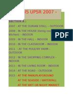 Analysis Upsr 2007