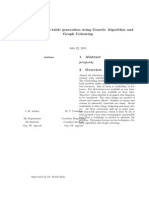 Final Report of a project on genetic algorithms