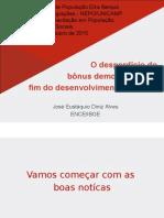 O desperdício do bônus demográfico e o  fim do desenvolvimento do Brasil