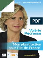 Plan d'action de Valerie Pecresse pour l'Ile-de-France