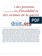 Pensions Militaires Invalidite Victimes Guerre