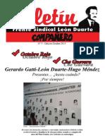 FRENTE SINDICAL LEÓN DUARTE Boletín Octubre
