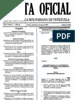 Reglamento LOPCYMAT Decreto N° 5078