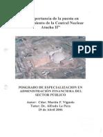 La importancia de la puesta en funcionamiento de la Central Nuclear Atucha II.