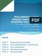 1.- Reglamento Sobre Manejo Sanitario de Residuos Peligrosos