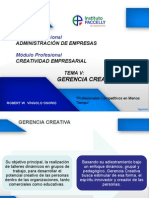Sesion 5 Gerencia Creativa