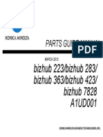 Bizhub423 363 283 223PartsManual