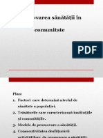 Promovarea Sanatații În Comunitate