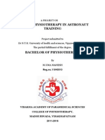 Role of Physiotherapy in Astronaut Trainning