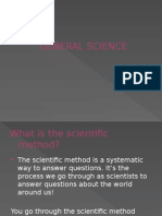 Gen Sci - Scientific Method and Variables