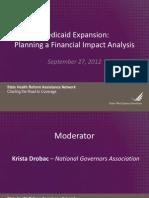 State Network Medicaid Expansion Tool NGA Webinar FINAL