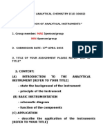Assignment Analytical Chemistry-guideline