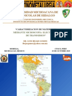 "CARACTERIZACION DE MATERIALES  MEDIANTE MICROSCOPIA  ELECTRONICA  DE TRANSMISION"""