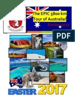 EPIC 5800km Tour of Australia Brochure 2017