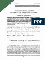 La Clase Parlamentaria Uruguaya. Cultura Política y Diseños Institucuonales. Ismael Crespo_ Pablo