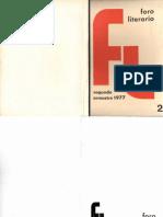 Foro Literario 2. 1977