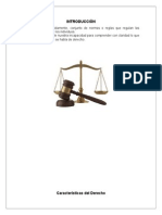 Caracteristicas Del Derecho