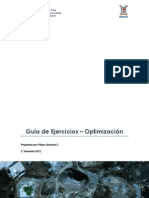 Guía de Ejercicios - Optimización (1)