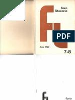 Foro Literario 7-8. 1980