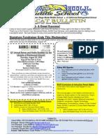 Week #4 Bobcat Bulletin 8-17-15