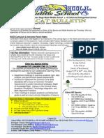 Week #5 Bobcat Bulletin 8-25-14