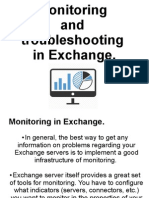 Monitoring and Troubleshooting in Exchange