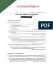 Applied Direct Taxation(syllabus 2002)