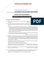 Operation Management & Information System question paper (syllabus 2002)