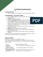 Strain Counterstrain Handout March 26 2010