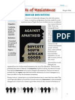 methods of resistance - boycotting