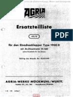 1900 D Einachsschlepper Agria