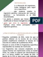 Biologia, biotecnologia
