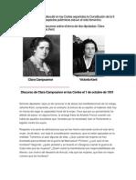 Debate Clara Campoamor-Victoria Kent