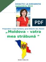 Proiect-didactic Dirigentie -Moldova-Vatra Mea Străbună, 01.09.2015