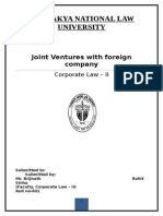 Joint Ventures with foreign company