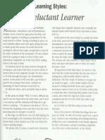 The Reluctant Learner - Reading - Pre intermediate/intermediate