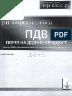 PDV-Prirucnik Za Primenu Propisa o PDV