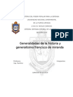 Generalísimo Francisco de Miranda