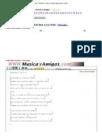 UN DíA a LA VEZ - Salvador. Letras y Acordes Para Guitarra y Piano