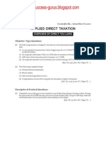 Applied Direct Taxation question paper (syllabus 2008)