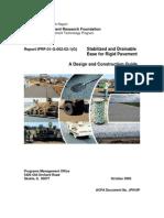 Bases Estabilizadas y Drenantes Para Pavimentos Rigidos
