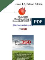 Presentación de PC-BSD en el Flisol 2008 - Perú