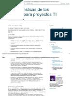 Caracteristicas de Las Normas Para Proyectos Ti_ Caracteristicas de Las Normas_estandares Iso Para Proyectos de Ti
