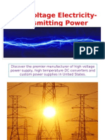 High Voltage Electricity Transmitting Power